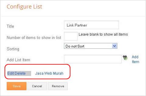 Cara Membuat Daftar Link