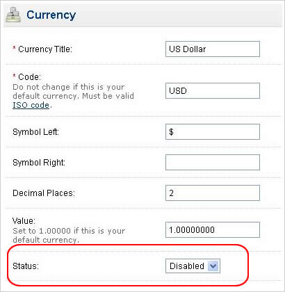 Cara setting mata uang rupiah