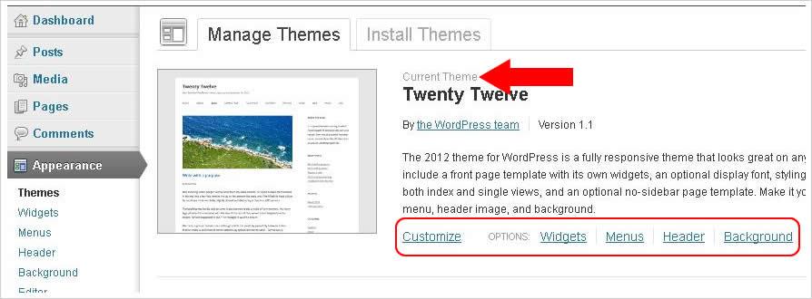 cara install theme template wordpress