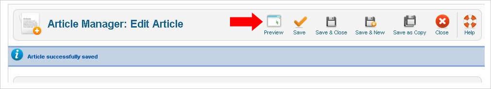 Cara Preview Artikel sebelum Publish Joomla