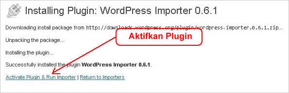 Cara Import Konten Konten wordpress
