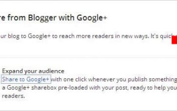 Cara share posting ke Google Plus