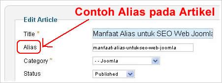 manfaat alias web joomla