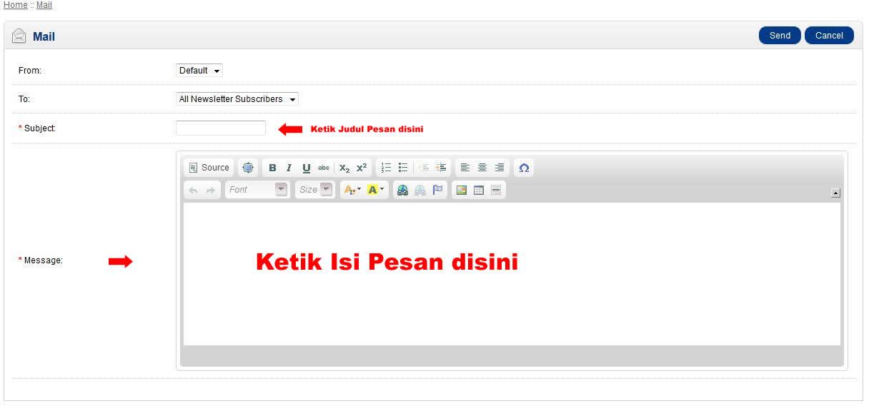 Cara Mengirimkan Email pada Opencart