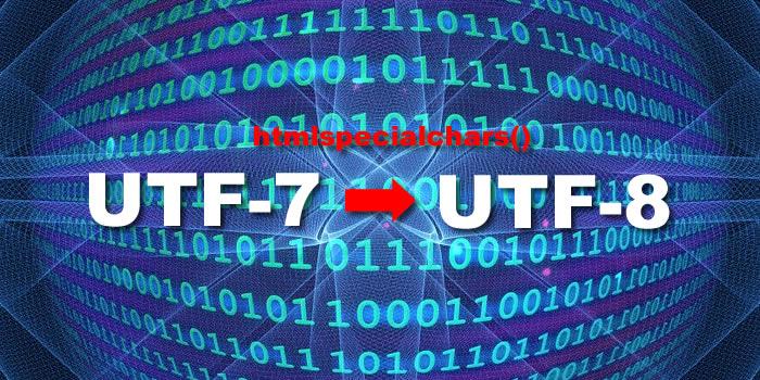 error htmlspecialchars wordpress utf 7